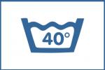 symbole lavage à 40 degres